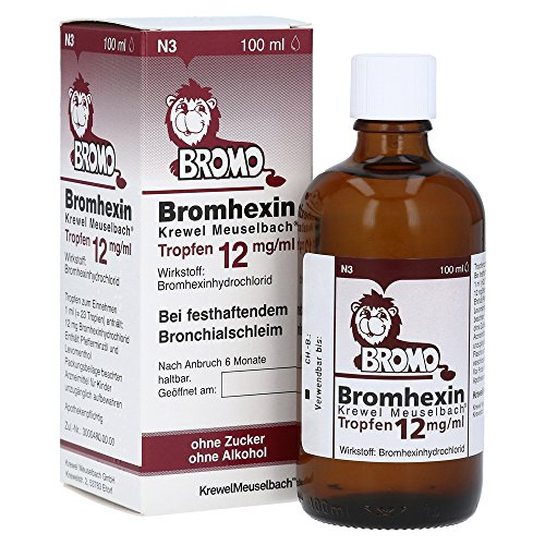 Bromhexin Krewel Meuselbach Tropfen 12 mg/ml,100ml