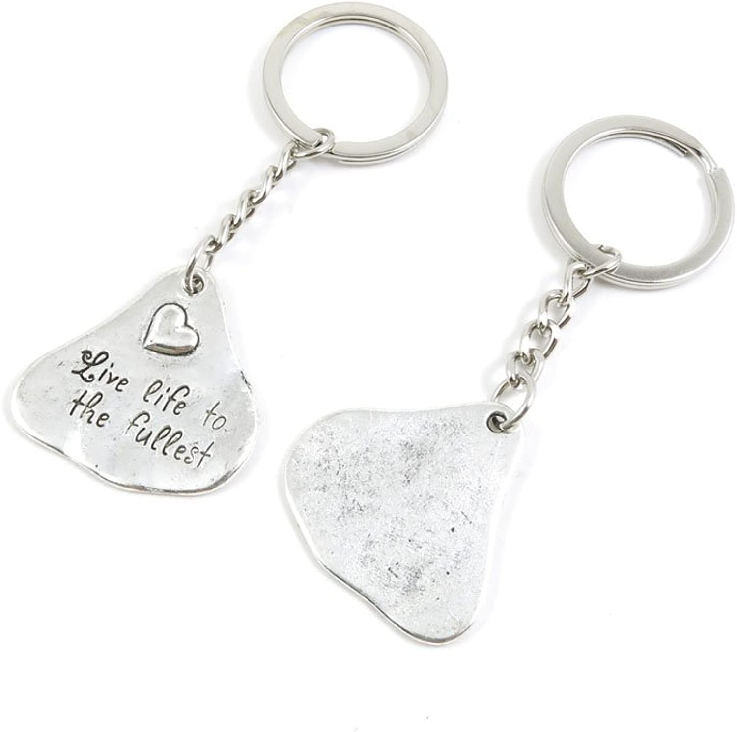 120 Pieces Fashion Jewelry Keyring Keychain Door Car Key Tag Ring Chain Supplier Supply Wholesale Bulk Lots T6TF4 Heart Signs Tag