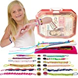 IQKidz Friendship Bracelet Maker Kit - Making Bracelets Craft Toys for Girls Age 8 - 12 yrs, Cool Birthday Gifts for 7, 9, 10, 11 Years Old Kids, New 2020 Travel Activity Set
