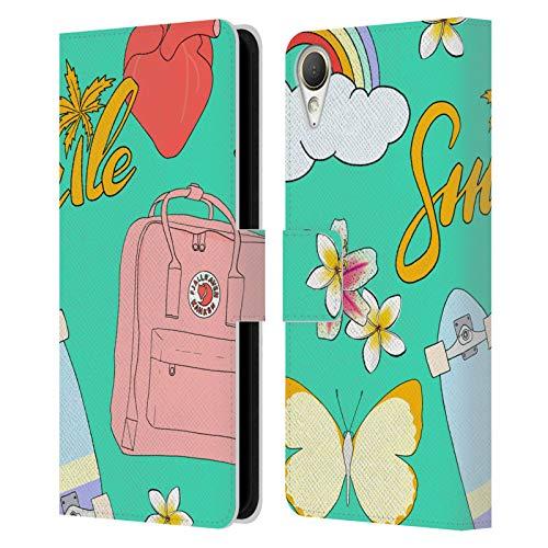 Head Hülle Designs Offizielle Marta Olga Klara Mok Sommer Pastell Grafiken Leder Brieftaschen Handyhülle Hülle Huelle kompatibel mit HTC Desire 10 Lifestyle