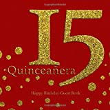 Quinceanera 15 Happy Birthday Guest Book.