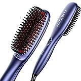 FURIDEN Hair Straightening Brushes Ceramic, Hair Straighteners Brush for Thick Hair, Hair Straightening