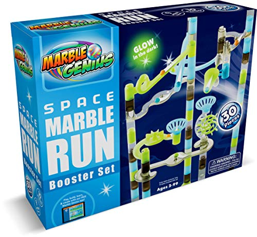 Marble Genius Space Booster Set (Add-On Set - 30 Marbulous Marble Run Toy Pieces)