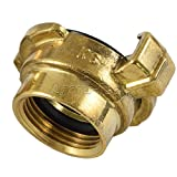 Agora-Tec® Acoplamiento rápido de latón con rosca interior de 3/4 pulgadas (24,2 mm), incluye junta plana con cierre rápido.