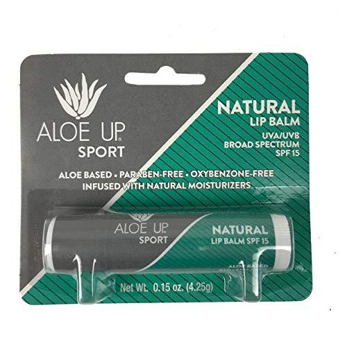 Aloe Up Sun & Skin Care Products Sport Natural SPF 15 Lip Balm
