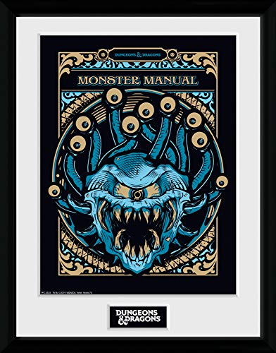 1art1 Dungeons & Dragons - Monster Manual Gerahmtes Bild Mit Edlem Passepartout   Wand-Bilder   Kunstdruck Poster Im Bilderrahmen 40 x 30 cm