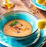 Sänger Dinner Service Capri aus Porzellan 12 teilig für 4 Personen | Füllmenge der Schalen 700 ml | Tellerset im Vintage-Stil Blau, Geschirrset, Porzellanservice - 7