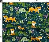 Tiger, Dschungel, Tiere, Baby, Verspielt Stoffe -