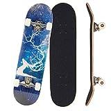 Sumeber Skateboards 31' x 8' doble patada para adultos trucos tabla de skate para principiantes, monopatín completo con...