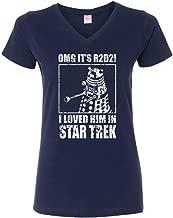 OffWorld Designs Women's OMG Loved Him Sci-fi Classic T-Shirt Navy Blue
