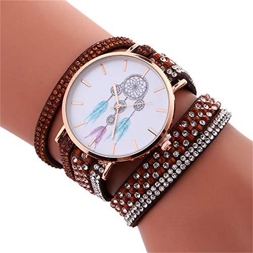 FDIJM Art- Und Weisefrauenrhinestone-Armband-Uhr-Damen-Beiläufige Handgelenk- Uhr, Bw