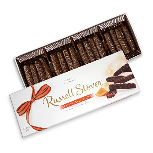 Russell Stover Dark Chocolate Orange Jelly Strings, 11 oz. Box