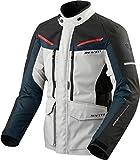 Jacket Man REVIT Safari 3 Negro-Plata-Azul-Rojo TAMAÑO XL