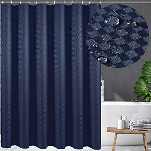 Swanson Duschvorhang in Blau mit Duschringen. Antischimmel. Modern. Edel. 120/150/180/200 x 200 cm (200 x 200 cm)