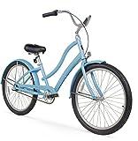 Firmstrong Women's CA-520 Alloy 3-Speed Beach Cruiser Bicycle, 15.5-Inch/Medium, Baby Blue