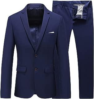 UNINUKOO Mens 2 Piece Wedding Tuxedo Prom Dress Party Suit Slim Fit