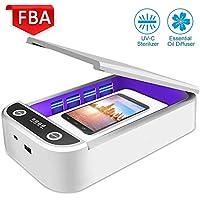 OumuEle - Esterilizador de teléfono celular con función de aromaterapia, desinfectador de teléfono inteligente para iPhone y Android, cepillo de dientes blanco Blanco Nieve