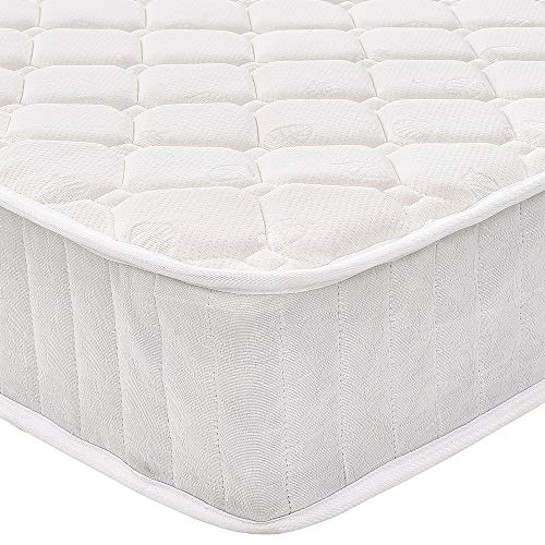 Panana Quilted Fabric Cover Hypo-Allergenic Spring Mattress High Density Mattress (4ft6 double,135 * 190cm)