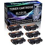 6-Pack Black Compatible Laser Printer Cartridge (High Yield) Replacement for Samsung MLT-D116L MLTD116L D116L Imaging Cartridge use for Samsung Xpress SL-M2885FW SL-M2875DW Printer