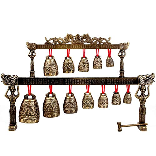 SHYPT Chinese Home Crafts, Legierungsgong, der Musikinstrument-Modell-Verzierungen, handgemachte Dekorationen spielt