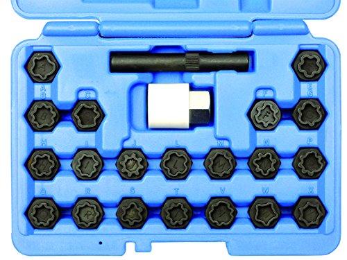Kunzer 7FSA22 Felgenschloss-Schlüssel-Satz Audi/VAG mit 20 Schlüsseln