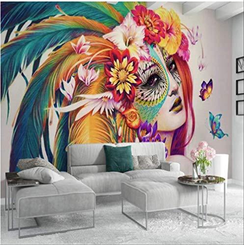 FangXUEPING 3D-fotobehang creatieve hand beschilderd kleurrijke vlinder schoonheid kunst muurschildering woonkamer slaapkamer werkkamer decor Breite 250cm * Höhe175cm Pro