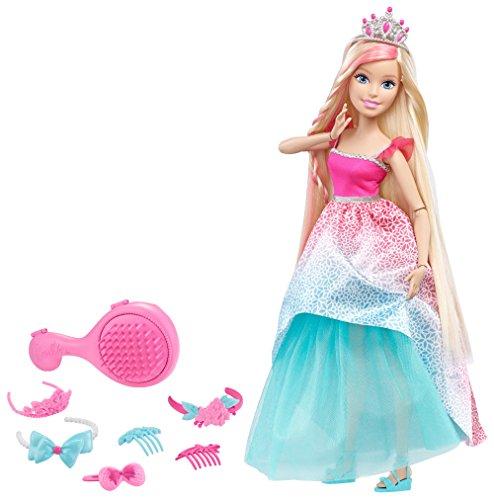 Barbie Endless Hair Kingdom 17-Inch Princess Doll - Muñecas (Multicolor, Femenino, Chica, 3 año(s), 431,8 mm)