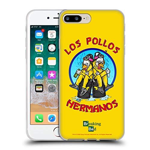 Head Case Designs Licenza Ufficiale Breaking Bad Los Pollos Hermanos 10imo Anniversario Cover in Morbido Gel Compatibile con Apple iPhone 7 Plus/iPhone 8 Plus