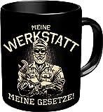 RAHMENLOS Original Kaffeebecher für den Mechaniker und Schrauber: Meine Werkstatt, Meine Gesetze! -...