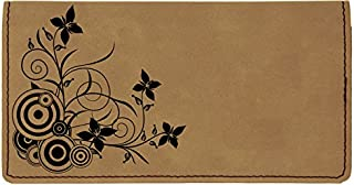 Creeping from The Corner Laser Engraved Leatherette Checkbook Cover