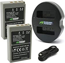 Wasabi Power Battery (2-Pack) Dual Charger for Olympus BLS-5, BLS-50, PS-BLS5 & OM-D E-M5 III, E-M10, E-M10 MII, E-M10 MIII, E-M10 MIIIs, E-M10 MIV, Pen E-PL2, E-PL5, E-PL6, E-PL7, E-PL8, E-PM2, E-P7