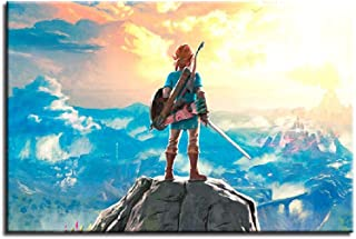 Fenfei Wall Art Canvas Painting HD Prints Home Decoraion Legend of Zelda 1 Piece GameFor Kids Room Pictures 60cm x90cm No Frame