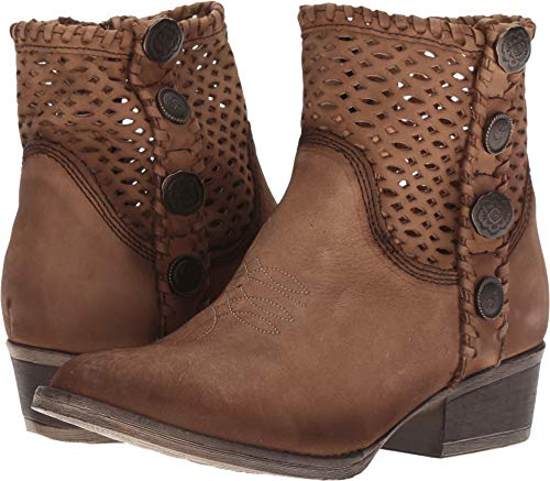 CORRAL Women's Chocolate Cutout Fashion Booties Round Toe Chocolate 10 M