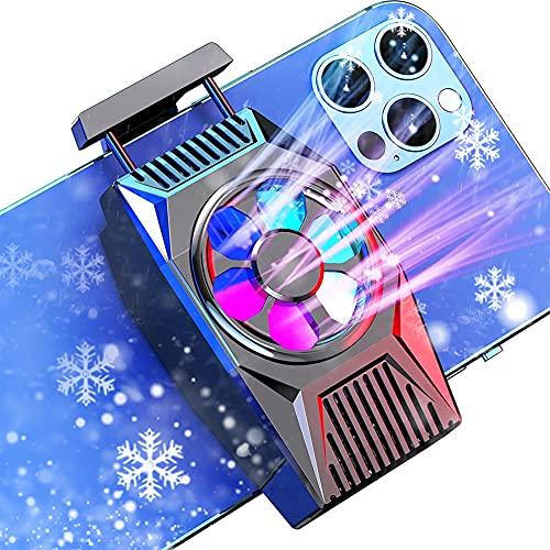 Ventilador De Refrigeración para Teléfonos Móviles, Cell Phone Cooler, Radiador de Teléfono para jugar a juegos/vídeos Adecuado universalmente para todos los teléfonos móviles
