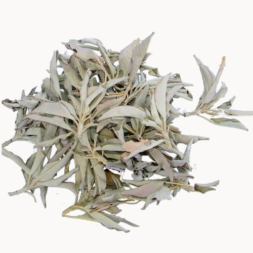100 Gramm Premium 'cluster Qualität' weißer Salbei lose - zumeist kleine reine natürliche Salbei Büschel verpackt zu je 50 gr in hochwertigen aromaschonenden Beuteln - Räucherwerk: -- von Native-Spirit -- white sage