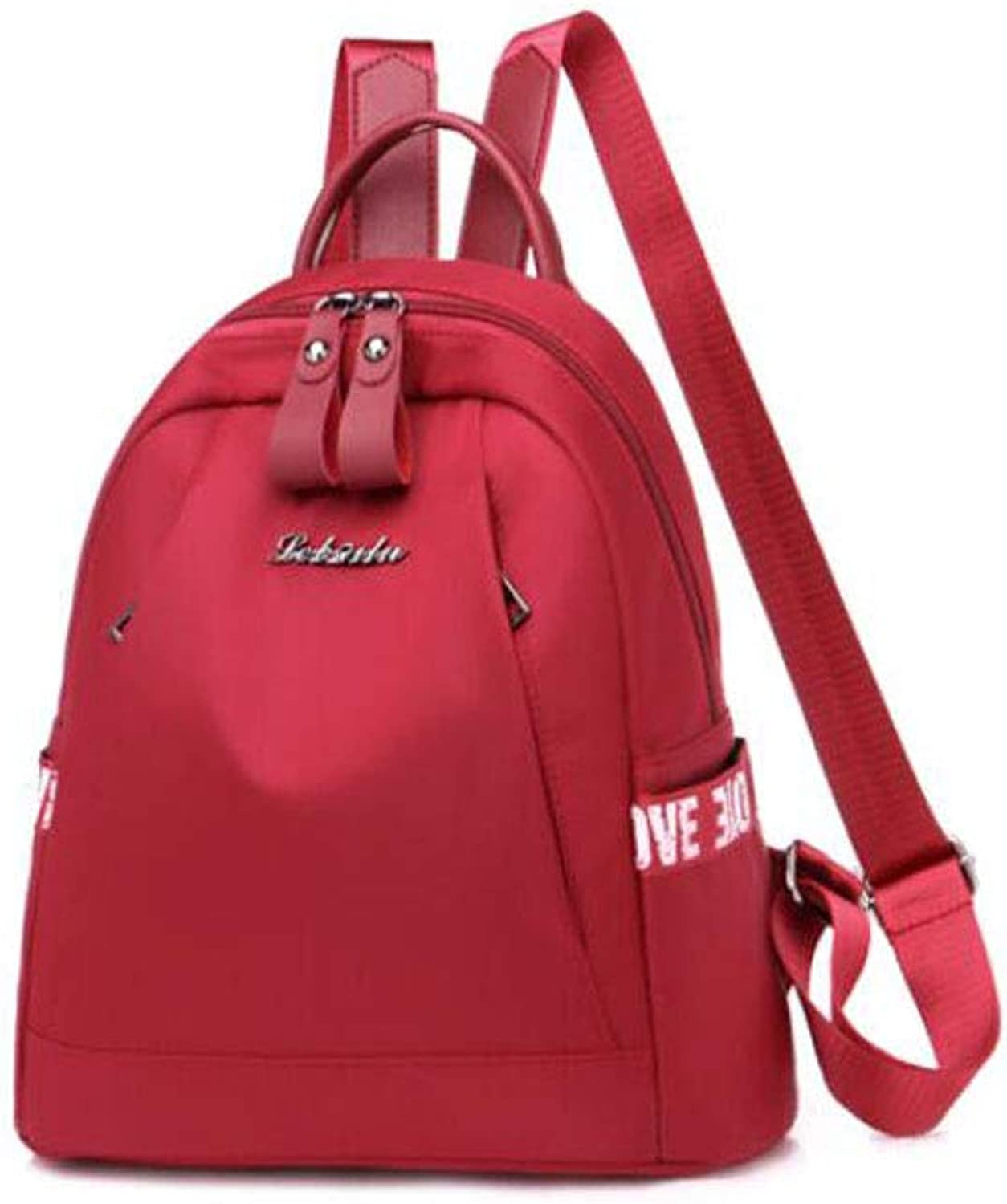 HENG Women's Casual Nylon Lightweight Backpack, Red for Hiking, Traveling & Camping (color   Black)