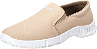 Salerno Textile Round-Toe Elastic Side Panel Contrast-Logo Slip-on Shoes for Men