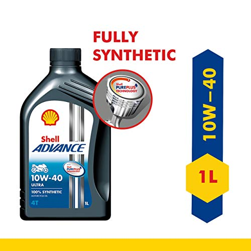 Shell Advance Ultra 4T 10W-40 API SN Fully Synthetic Motorbike...