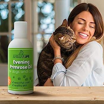 Huile pour Chien et Chats Onagre 250ml - 100% Soin Naturel de Peau et Pelage - Vitamines - Minéraux - Oméga 3 6 9 - Compléments Alimentaires pour Animaux Domestiques