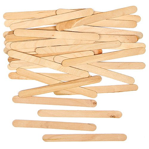 Holzstäbe zum Basteln, Natur, für Collagen und Dekorationen (250 Stück)