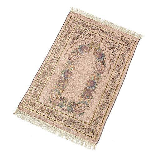AOUTLE Prayer Mat - Islamic Muslim Prayer Rugs - Soft Exquisite Portable Floral Prayer Mat Rug Folding Decoration Anti Slip