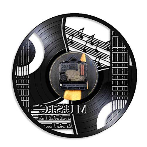 TOLYZ muziek Het is niet wat ik doe, het is wie ik in muziekgestuurd citaat Rock N Roll wooncultuur gitaar wandklok vintage vinyl plaat wandklok