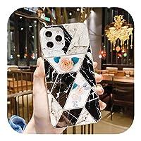 Jinyy iPhone 1211Proスクエアバンパー大理石の電話ケースMaxXR XS Max X 7 8 Plus SE 2020 iPhone 1112Proソフト電気メッキ背面カバー-T5-for iPhone 12 Max