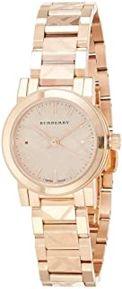 Burberry Women's Gold Dial Stainless Steel Band Watch - BU9235