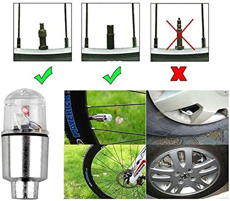 Details about  /2//4Pack Valve Stem LED CAP for Bike Bicycle Car Motorcycle Wheel Tire Light lamp