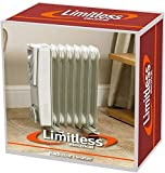 Kingfisher Limitless-Radiador eléctrico (1500 W, 7 Aletas, Relleno de...