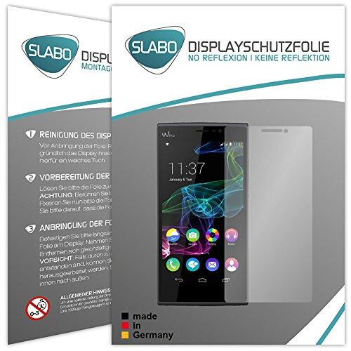 Slabo 4 x Displayschutzfolie für Wiko Ridge Fab 4G LTE Displayfolie Schutzfolie Folie Zubehör No Reflexion MATT
