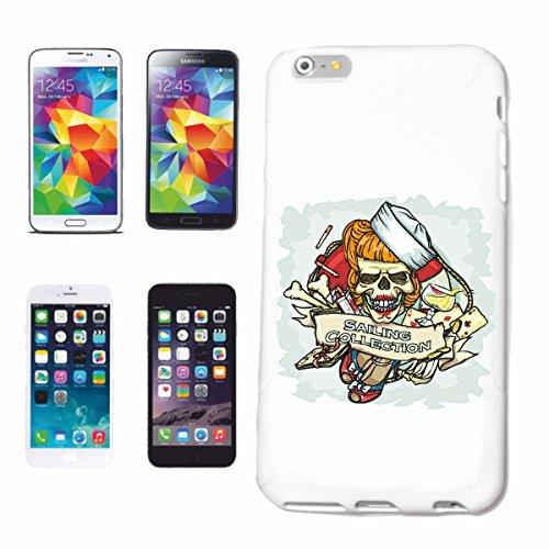 Reifen-Markt Hard Cover - Funda para teléfono móvil Compatible con Apple iPhone 7+ Plus NAVEGACIÓN COLLEKTION CRÁNEO Copa DE Vino DE Fumar Ancla Pirata del CRÁNEO