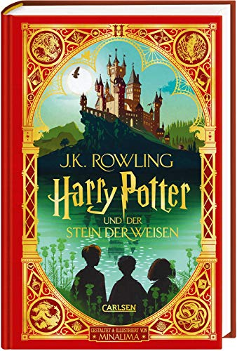 Harry Potter und der Stein der Weisen: MinaLima-Ausgabe (Harry Potter 1): farbig illustrierte Prachtausgabe mit Goldprägung und zauberhaften Papierkunst-Elementen zum Ausklappen