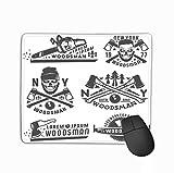 Mouse Pad Set Woodman Leñador Vinage Style Emblems Logo Rectángulo Goma Mousepad 25 * 30Cm